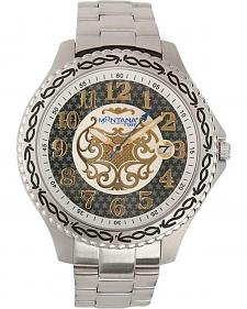 Montana Silversmiths Two-Tone Face Metal Band Watch
