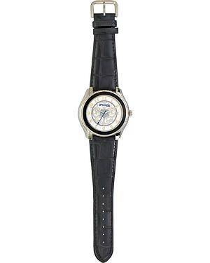 Monatana Silversmiths Filigree Leather Band Watch