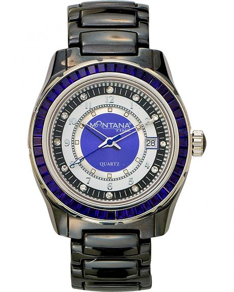 Montana Silversmiths Ceramic & Blue Stone Watch