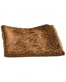 Brown Jacquard Silk Wild Rag