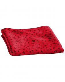 Red Branding Design Silk Wild Rag