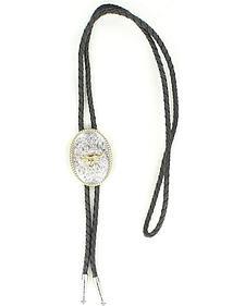 Oval Longhorn Bolo Tie