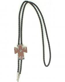 Cross with Star Bolo Tie