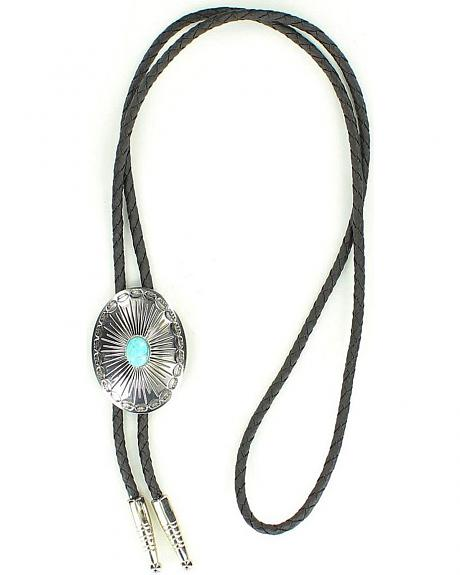 Oval Turquoise Stone Bolo Tie