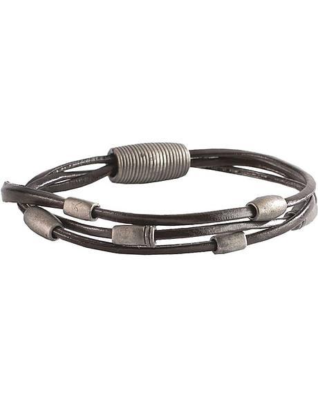 Men's Beaded Leather Bracelet