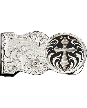 Montana Silversmiths Filigree & Cross Money Clip