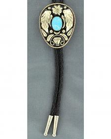 Wings & Turquoise Stone Bolo Tie
