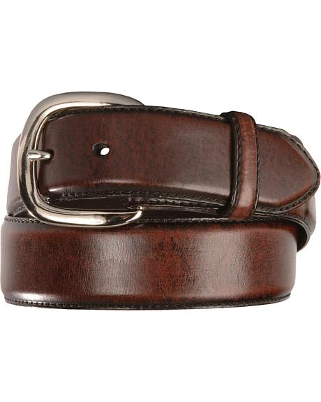Men's Black Cherry Leather Belt
