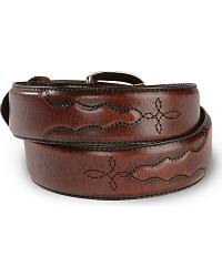 Men's Black Cherry Leather Belt at Sheplers