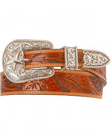 Justin Tooled Leather Belt - Reg & Big