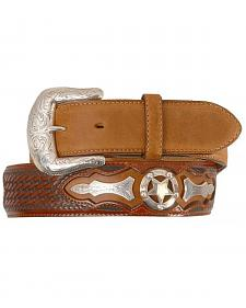 Justin Odessa Star Leather Belt