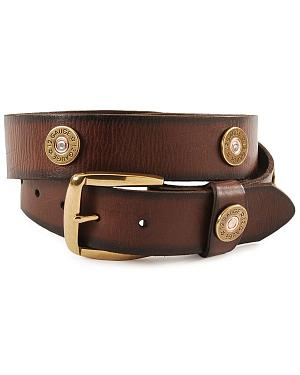Nocona Gun Shell Cap Leather Belt - Reg & Big