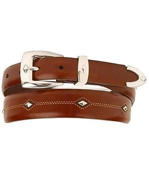 Denver Diamond-Shaped Stud Belt