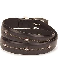 Tony Lama Denver Diamond-Shaped Stud Belt at Sheplers
