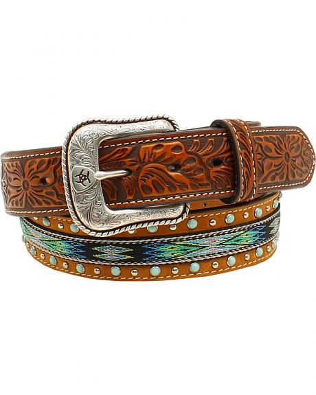 Ariat Men's Ribbon Strip Turquoise Stone Belt