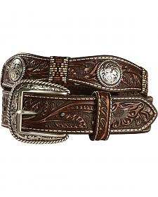 Ariat Men's Scalloped Floral Embossed Ribbon Belt