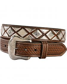 Nocona Men's Scalloped Diamond Concho Belt