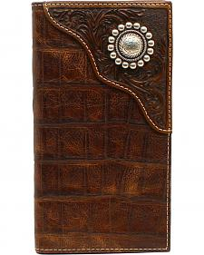 Ariat Men's Rodeo Floral Embossed Concho Wallet