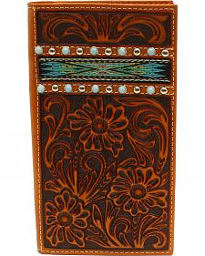 Ariat Men's Rodeo Ribbon Strip Turquoise Stone Wallet