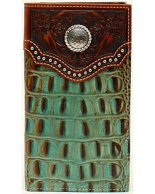 Nocona Men's Rodeo Croc Rawhide Wallet