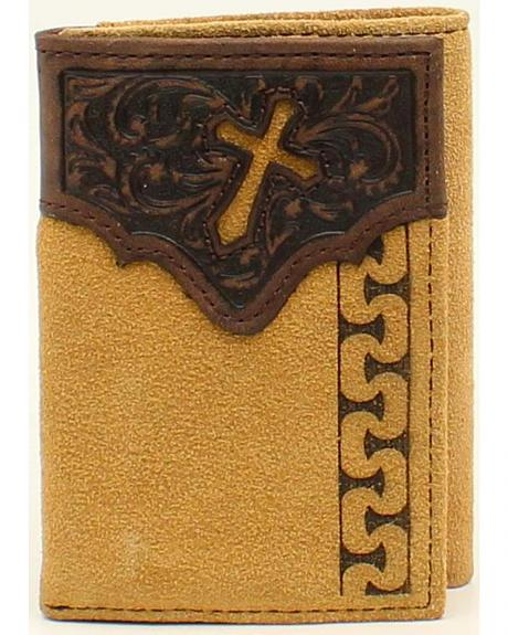 Ariat Men's Tri-Fold Stitch Cross Tabs Wallet