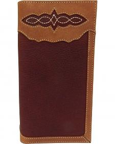 Roper Men's Pebble Grain Leather Checkbook Wallet