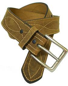 G-D Men's Crazy Horse Leather Figure 8 Belt