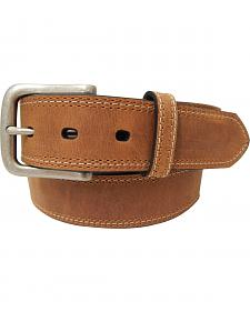 Dan Post Men's Crazyhorse Leather Contrast Stitch Belt