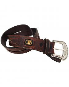 Dan Post Men's Leather Western Stitch Belt