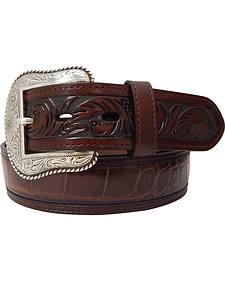 Dan Post Men's Gator Print Leather Belt