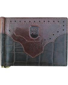 Dan Post Men's Front Pocket Gator Print Wallet