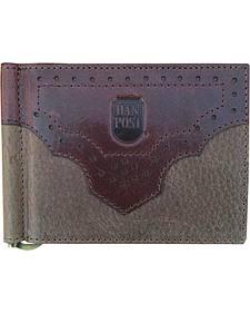 Dan Post Men's Front Pocket Crazyhorse Leather Wallet