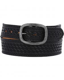 Chippewa Men's Black Basketweave Oak Ridge Leather Belt