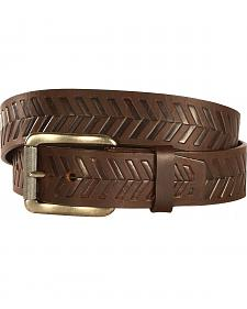Chippewa Men's Dark Brown Farming Boy Leather Belt