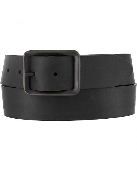 Chippewa Men's Black Buckskin Leather Belt
