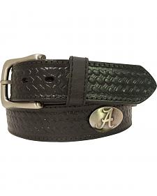 Collegiate University of Alabama Basketweave Leather Belt