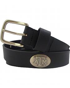 Collegiate Texas A&M University Leather Belt