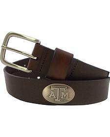 Collegiate Men's Texas A&M Bridle Leather Belt