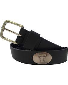 Collegiate Men's Texas Tech Black Bridle Leather Belt