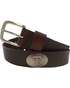 Collegiate Men's Texas Tech Bridle Leather Belt