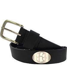 Collegiate Men's Clemson University Bridle Leather Belt