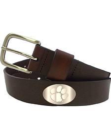 Collegiate Men's Clemson Bridle Leather Belt