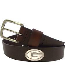 Collegiate Men's University of Georgia Bridle Leather Belt