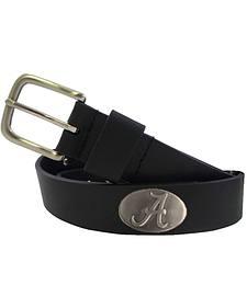Collegiate Men's University of Alabama Bridle Leather Belt