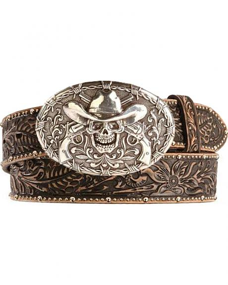 Tony Lama Ghost of Tombstone Leather Belt - Reg & Big