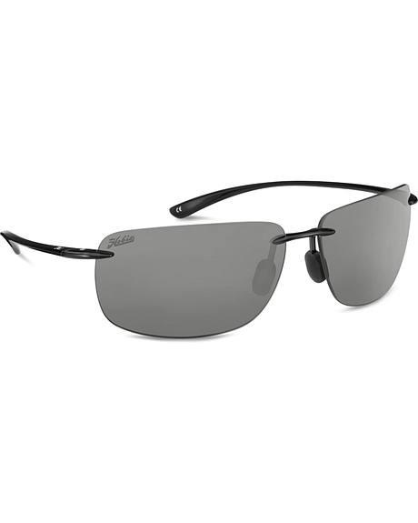 Hobie Men's Grey and Shiny Black Polarized Rips Sunglasses