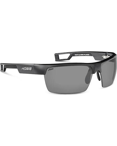 Hobie Men's Grey and Satin Black Manta Polarized Sunglasses