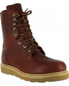 "American Worker Men's 8"" Lace-Up Work Boots"