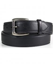 American Worker Men's Classic Black Leather Belt