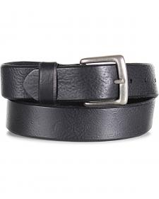 American Worker Men's Black Distressed Leather Belt